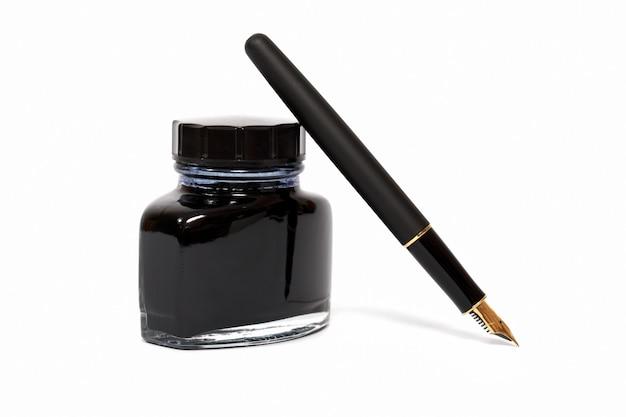 Füllfederhalter mit tintenflasche