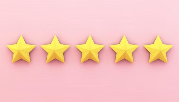 Fünf sterne auf pink