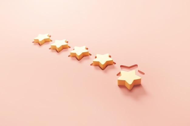 Fünf-sterne-symbol mit der besten bewertung für exzellente dienstleistungen für zufriedenheit