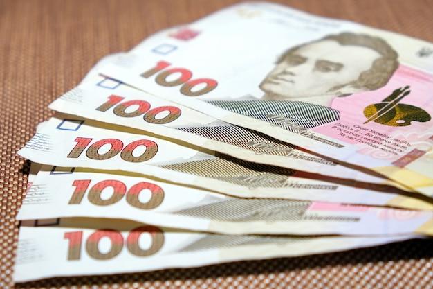 Fünfhundert hrivnas banknoten ukrainisches geld