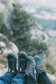Füße des wanderers