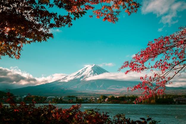 Fuji berg im herbst