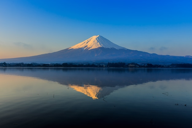 Fuji-berg reflektieren n-see kawaguchigo