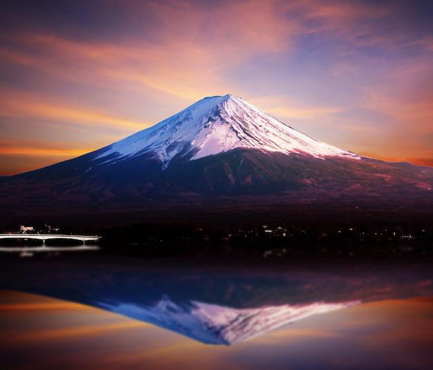 Fuji berg und kawaguchiko see.