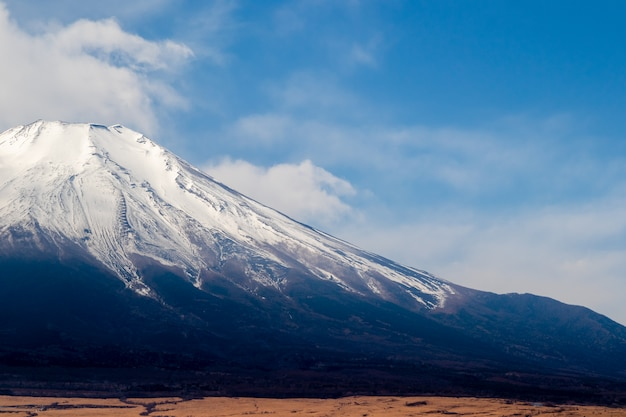 Fuji-gebirgsschöner hintergrund, berg fuji in japan.