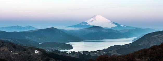 Fuji mountain lake hakone sonnenaufgang