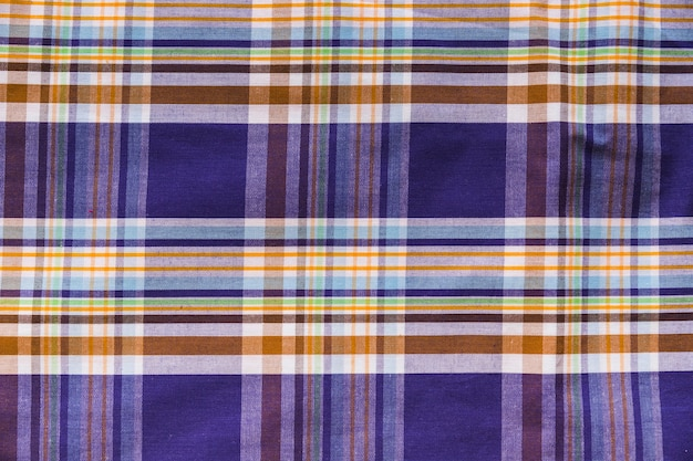 Full-frame-schuss von bunten karierten muster textil