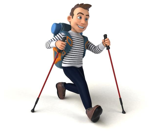 Fun 3d cartoon casual charakter