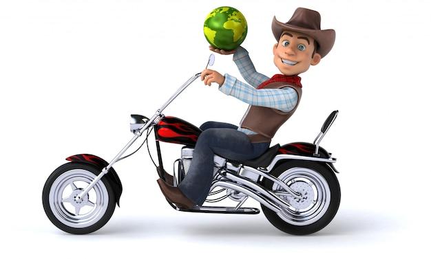 Fun cowboy - 3d-illustration