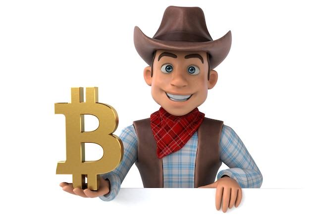 Fun cowboy illustration