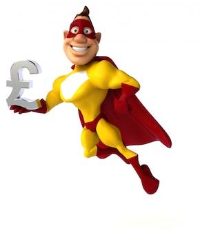 Fun superheld - 3d-charakter