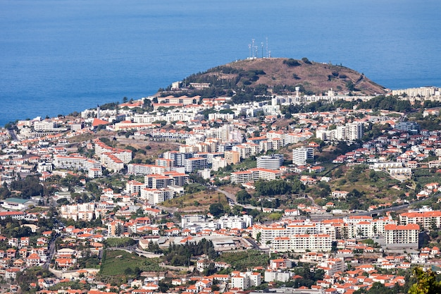 Funchal-luftbild, insel madeira, portugal
