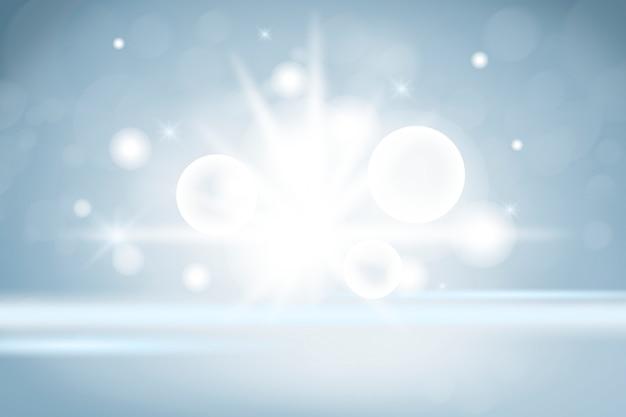 Funkelnde lichter produkthintergrund