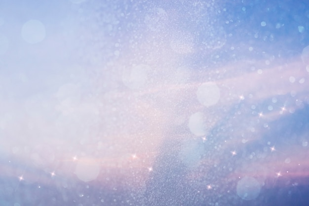Funkelnder blauer lichthintergrund mit textraum