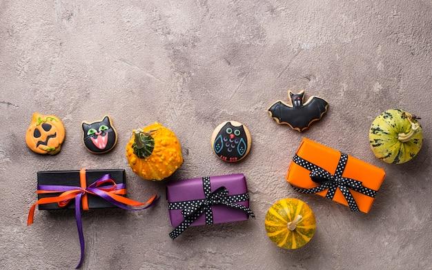 Furchtsame festliche plätzchen des halloween-lebkuchens