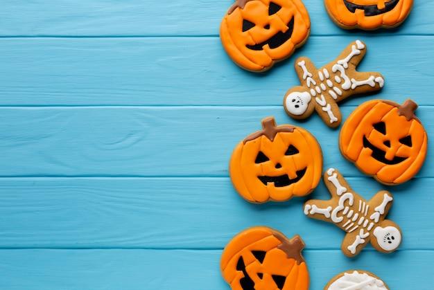 Furchtsame halloween-kürbisplätzchen