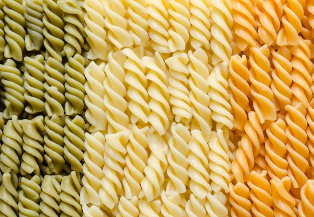 Fusilli pasta italienische flagge
