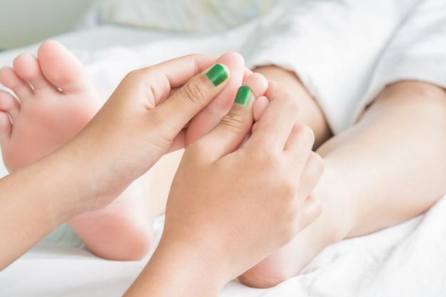 Fuß- und ölmassage spa und haut