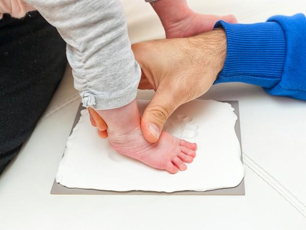 Fußabdruck eines neugeborenen