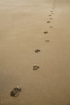 Fußabdrücke im sand
