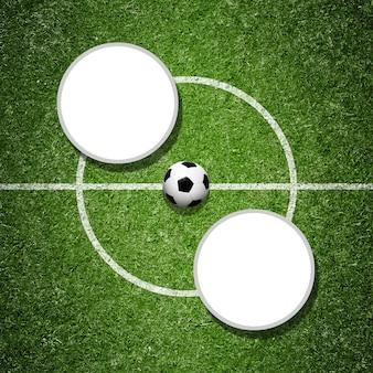 Fußball auf grünem spielplatz. fußballkonzept