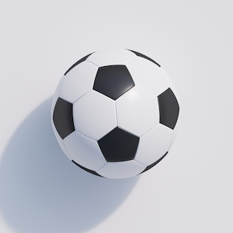 Fußball auf weiß