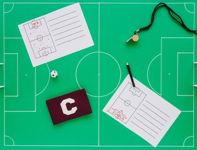 Fußball-konzept zusammensetzung