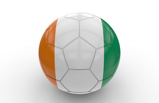 Fußball mit algerien flagge