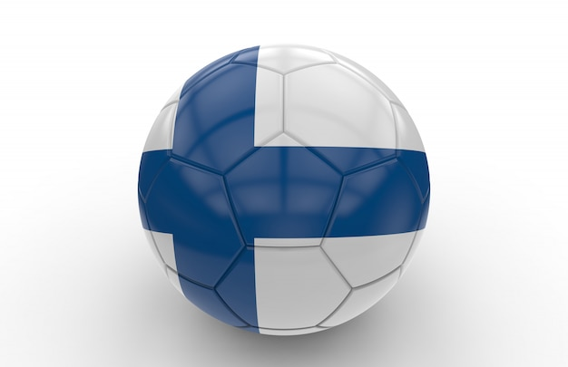 Fußball mit finnland flagge