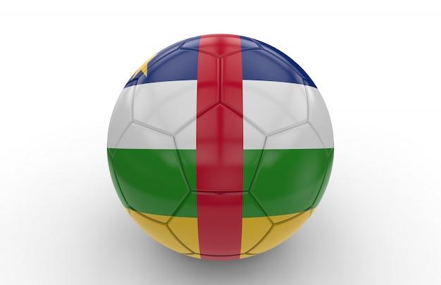 Fußball mit flagge der zentralafrikanischen republik