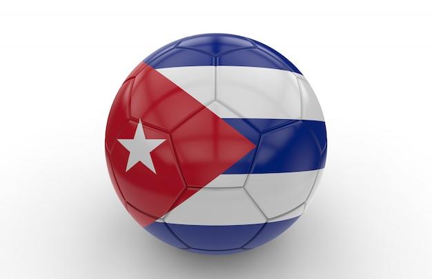 Fußball mit kuba flagge