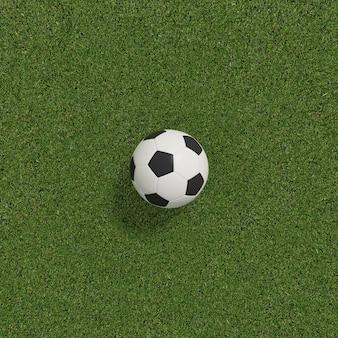 Fußball oder fußball auf fußballplatz