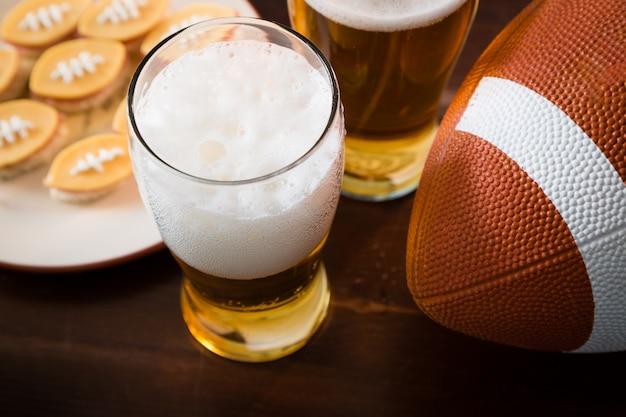 Fußball-party essen, super bowl tag