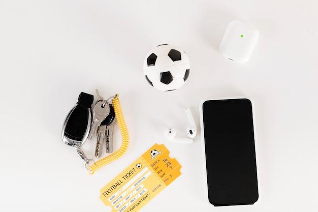 Fußball-stillleben-komposition Kostenlose Fotos