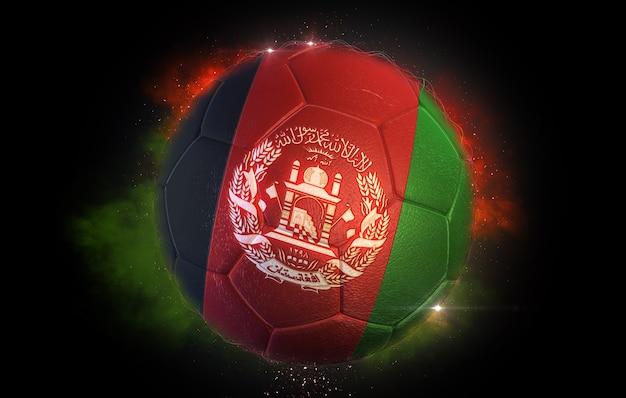 Fußball texturiert mit flagge afghanistans