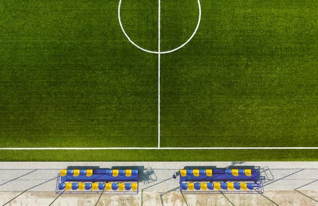 Fußballfeld oder fußballfeldhintergrund