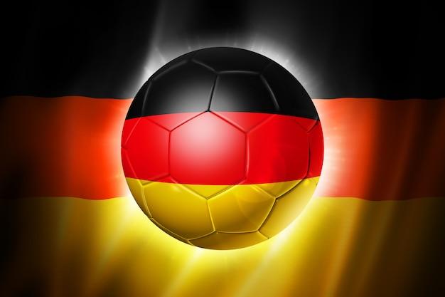 Fußballfußball mit deutschland-flagge