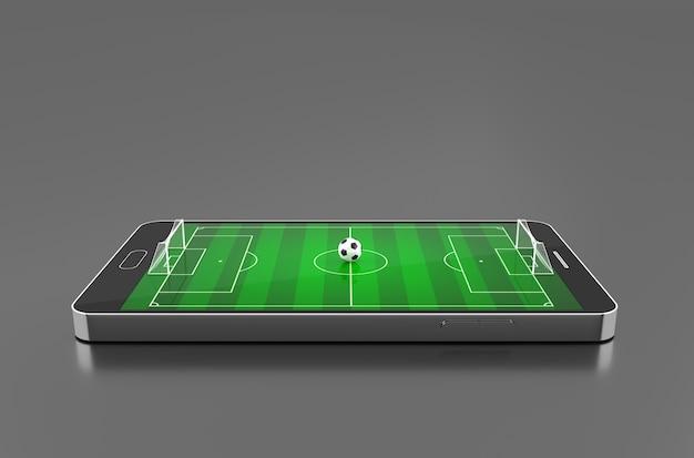 Fußballplatz auf smartphone.