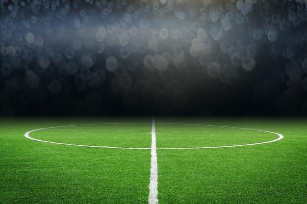 Fußballplatz mit einem ball