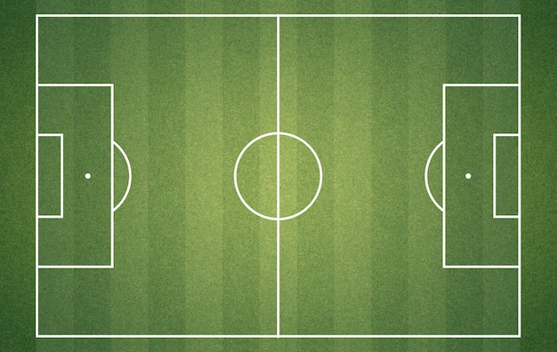 Fußballplatz von oben