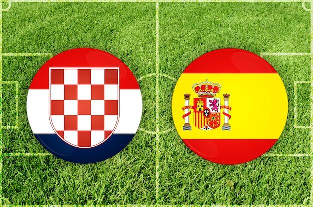 Fußballspiel kroatien gegen spanien
