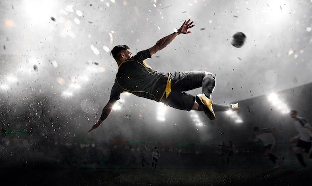 Fußballspieler im angriff