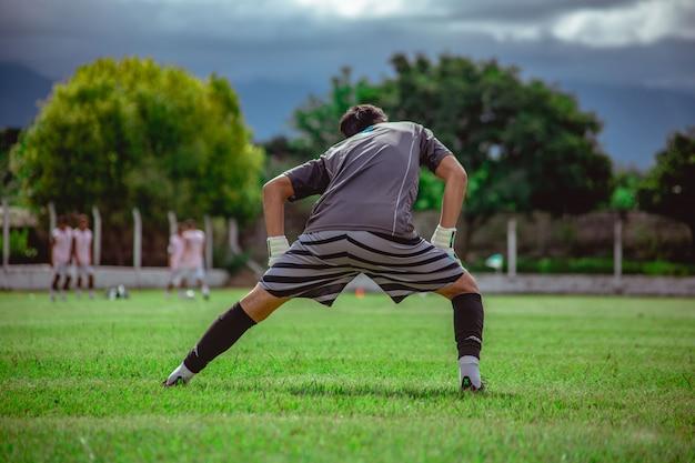 Fußballtorhüter-training