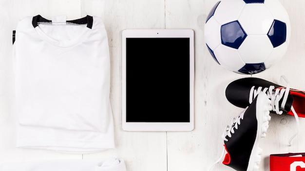 Fußballzusammensetzung mit tablette
