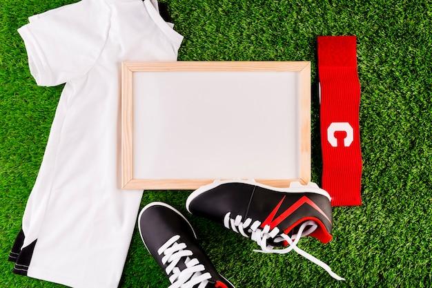 Fußballzusammensetzung mit whiteboard
