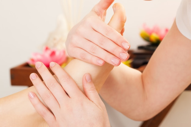 Fußmassage im spa