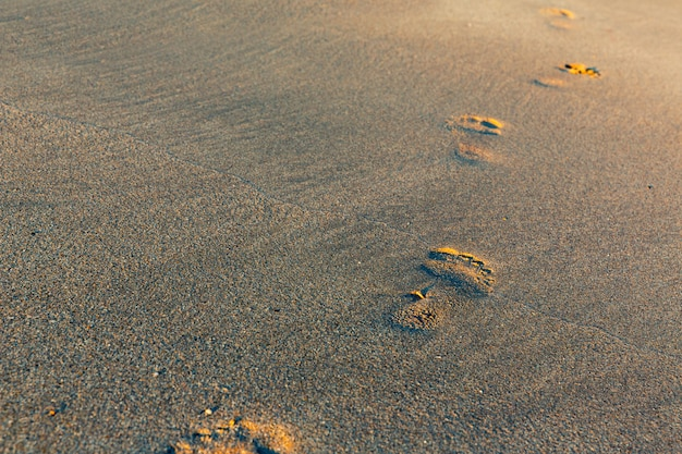 Futprints auf dem sand