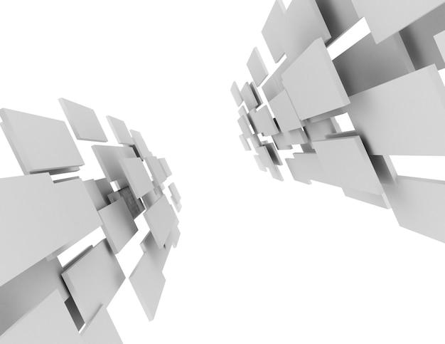 Futuristische abstrakte 3d-gerenderte darstellung