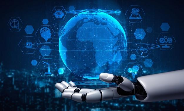 Futuristische künstliche intelligenz