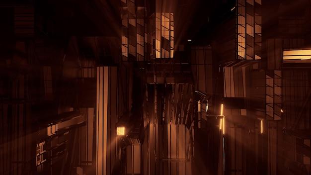 Futuristische sci-fi-technolichter - perfekt für futuristische hintergründe